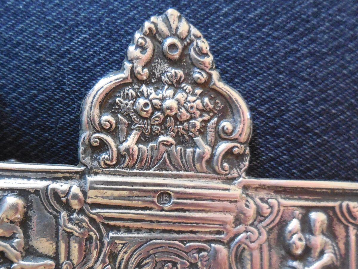 Grote antiek nederlands zilveren spiegel thoms zilverwerken for Grote zilveren spiegel